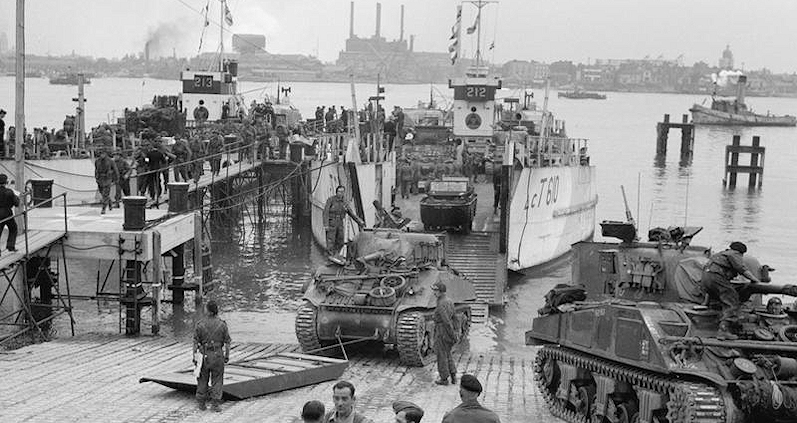 Loading LCT for D-Day